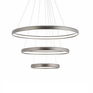 Aluminor LED závěsné světlo Trinity z hliníku, stříbrná