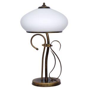 EULUNA Stolní lampa 493 opálová/zlatá antická výška 60 cm