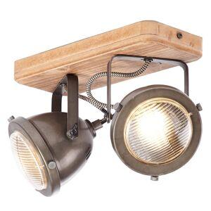 Brilliant Carmen Wood - stropní světlo prům.styl 2 žár.