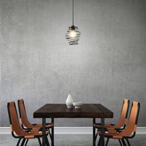 Briloner Závěsné světlo Black Steel 4870, jeden zdroj
