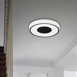 Briloner LED stropní svítidlo Bricks, kulaté, černé