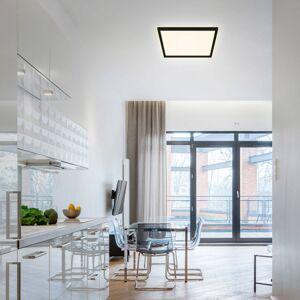 Briloner LED stropní světlo 7364, 42 x 42 cm, černá