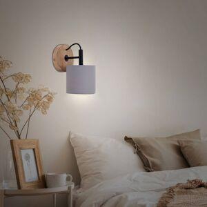 Briloner Wood & Style 2075 nástěnné světlo textil stínidlo