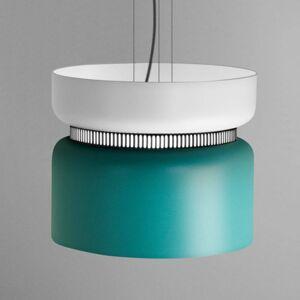 B.lux LED závěsné světlo Aspen S, bílá tyrkysová 40 cm