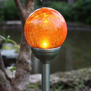 STAR TRADING Roma - solární zapichovací světlo s jantar. LED