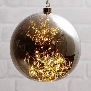 STAR TRADING Glow LED dekorační koule ze skla, Ø 20 cm šedá