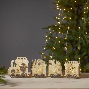 STAR TRADING Yuletide LED dekorativní světlo jako vánoční vlak