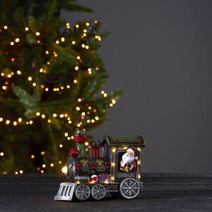 STAR TRADING Loke LED dekorativní světlo, Santa Claus ve vlaku