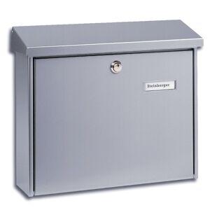 Burgwächter Prostá ocelová poštovní schránka AMSTERDAM stříbro