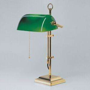 Berliner Messinglamp Bankéřská lampa GITA z leštěné mosazi