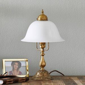 Berliner Messinglamp Zdobená stolní lampa Carolin z mosazi