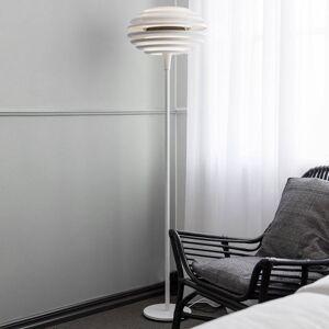 BELID Stojací lampa Ellipse se stmívačem, bílá/chrom