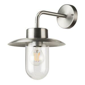 Venkovní nástěnná lampa NORDIC D, 1xE27, 60W, broušený hliník, IP44 Top-light NORDIC D Nordic D