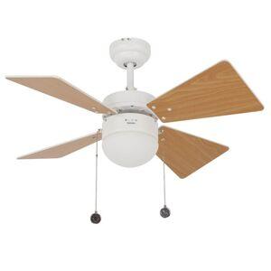 Reverzní stropní ventilátor na řetízkové ovládání s osvětlením LUCCI AIR BREEZER Beacon lighting B-VEN-512114