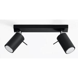 Stropní bodové osvětlení RING 2, 2xGU10, 40W, černé Sollux lighting RING 2 SL.0092