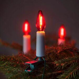 LED vánoční řetěz FELICIA, 16 žárovek, červené světlo, 10,5m Exihand FELICIA 162014.FIL.CL