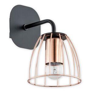 Industriální nástěnné osvětlení REXO CZA, 1xE27, 60W, měděné Loreo REXO CZA