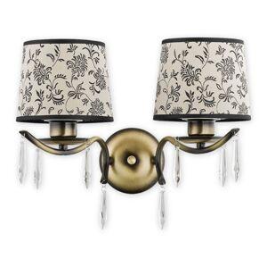 Nástěnné klasické osvětlení DELLI PAT, 2xE27, 60W, patina Loreo DELLI PAT