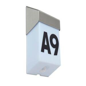 Solární nástěnné osvětlení domovního čísla s čidlem SOLSTEL, 1,3W, denní bílá, IP44 Lutec SOLSTEL 6907901000