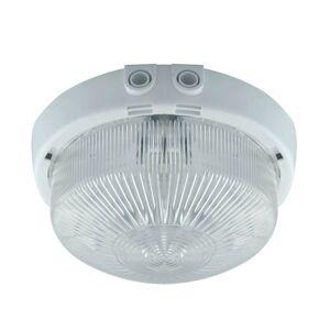 Venkovní stropní osvětlení MONAT, 1xE27, 100W, 25cm, kulaté, bílé, IP44 S.t.r. MONAT 02393