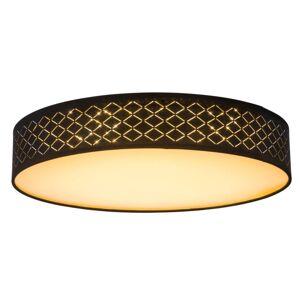 Stropní LED svítidlo na dálkové ovládání CLARKE, stmívatelné, 60cm, kulaté, černozlaté Globo CLARKE 15229D4
