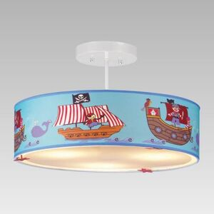 Závěsné dětské osvětlení BORUSIA, 3xE14, 40W, piráti Prezent BORUSIA 28032