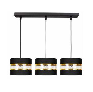 Moderní závěsné osvětlení MOBON, 3xE27, 60W, černé MOBON