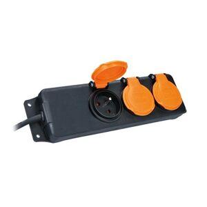 Solight prodlužovací přívod s vypínačem,IP44, 3 zásuvky, gumový kabel, venkovní, 10m Solight PP324