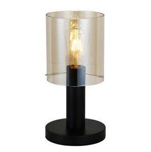 Stolní lampa SARDO, černé, jantarové sklo Italux Sardo TB-5581-1-BK+AMB