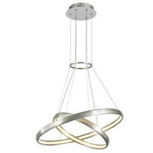Závěsné LED designové světlo na lanku AXEL, 38W, šedé Italux Axel MD17025-2A ALU+WH