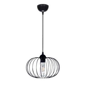 Industriální závěsné osvětlení na lanku BRANDY, 1xE27, 60W, černé BRANDY