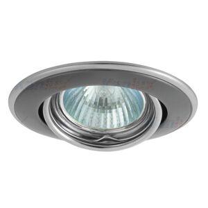 Podhledové bodové flexibilní stropní osvětlení DURON, 1xGX5,3, 50W, 9cm, kulaté, grafitové, stříbrné K.l.x. DURON