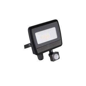 Venkovní LED nástěnný reflektor s čidlem ALERINO, 20W, denní bílá, černý, IP44 K.l.x. ALERINO