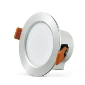 LED podhledové stropní osvětlení MARS, 7W, teplá bílá, 9,8cm, kulaté, leskle stříbrné Plx MARS