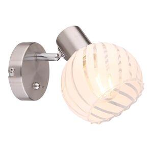 Nástěnné bodové osvětlení s vypínačem WILLY, 1xE27, 40W Globo WILLY 54025-1
