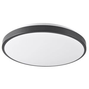 LED stropní moderní osvětlení JOHN, 24W, denní bílá, 39cm, kulaté, černé Plx JOHN