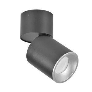 Stropní / nástěnné bodové osvětlení DALLAS, 1xGU10, 50W, černostříbrné Plx DALLAS