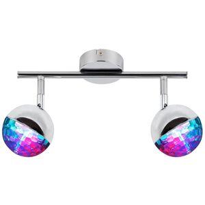 Nástěnné / stropní LED bodové osvětlení ROVERETO, 2x3W, RGB Clx