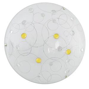 Nástěnné / stropní LED osvětlení FERDINANDO, 10W, teplá bílá, 30cm, kulaté, jantarové Clx