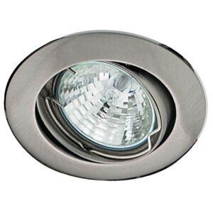 Podhledové stropní bodové osvětlení GIRONA, 1xMR16, 50W, 8cm, kulaté, stříbrné Clx