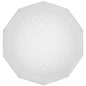 LED přisazené stropní světlo s efektem noční oblohy ASTURIAS, 16W, studená bílá, 51cm, bílé Clx