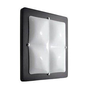Stropní / nástěnné osvětlení VESTA LIGHT, 4xE27, 20W, 49x49cm, hranaté, tmavě hnědé Vesta light VESTA LIGHT 33222 Wenge