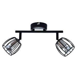 Moderní LED stropní / nástěnné bodové světlo MARCO, černé Clx MARCO