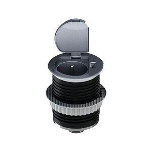 Výsuvný zásuvkový systém SOLIGHT, 1 zásuvka + 1x USB, kulatý, stříbrný, 1,5m Solight SOLIGHT PP122