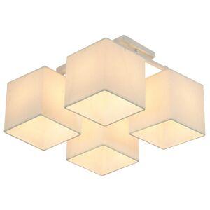 Přisazené stropní svítidlo BRUNO, 4xE27, 40W, 44x44cm, hranaté, béžové Clx BRUNO