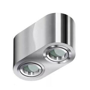 Stropní bodové osvětlení do koupelny BRANT 2, 2xGU10, 50W, chromované, oválné, IP44 Azzardo BRANT 2 AZ2817