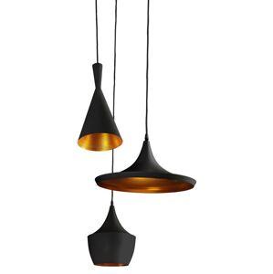 Závěsné skandinávské osvětlení MIX, 3xE27, 60W, černozlaté Azzardo MIX AZ1338