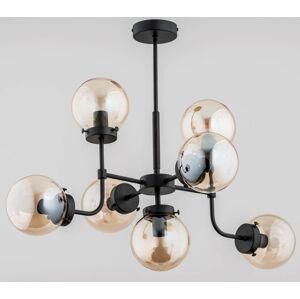 Závěsný designový lustr ACKERLEY, 7xE14, 40W, černý A.f.l. ACKERLEY