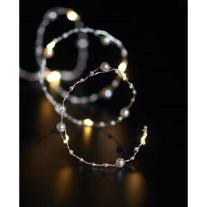 LED vánoční řetěz na baterie, béžové perličky, 3m Nipeko 9430752
