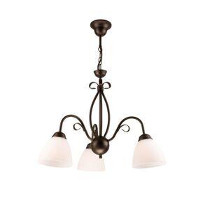 Závěsné klasické osvětlení na řetězu ADUCO, 3xE27, 60W, hnědá patina Ruel ADUCO LM 3.6